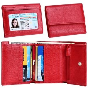 Wallet Trifold RFID Block Wallet Genuine Leather